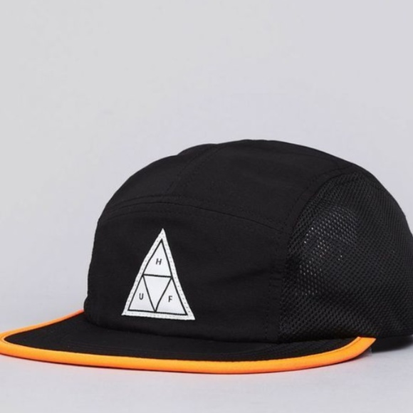 c5f3aa78e41 HUF Other - HUF Scout 5 Panel Mesh Volley Cap Black   Orange